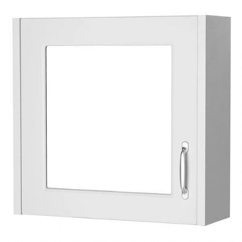 Kartell Astley Single Door Mirrored Cabinet - 600mm - White Ash